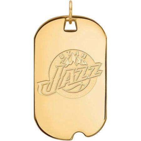 LogoArt NBA Utah Jazz 14kt Yellow Gold Large Dog Tag