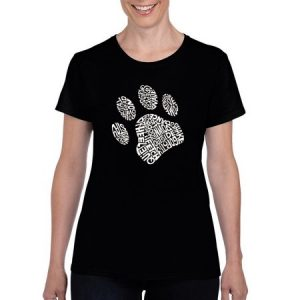 "Los Angeles Pop Art Women's ""Dog Paw"" T-Shirt"