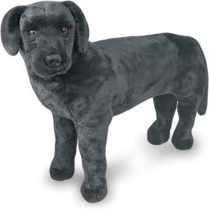 Melissa & Doug Giant Black Lab, Lifelike Stuffed Animal Dog, over 2' tall