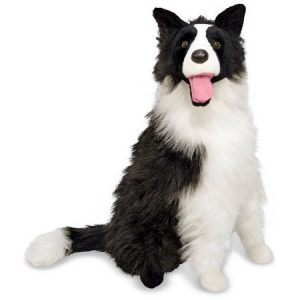 Melissa & Doug Giant Border Collie - Lifelike Stuffed Animal Dog (over 2 feet tall)