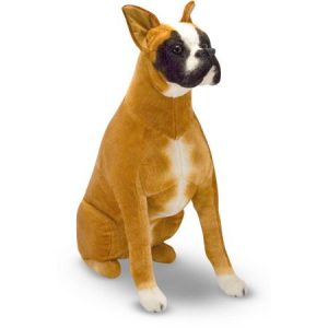 Melissa & Doug Giant Boxer, Lifelike Stuffed Animal Dog