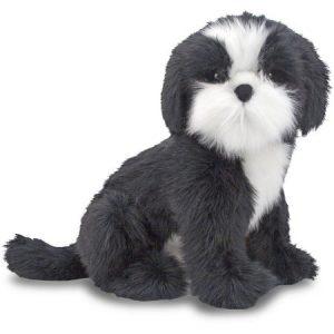 Melissa & Doug Giant Shih Tzu Dog, Lifelike Stuffed Animal