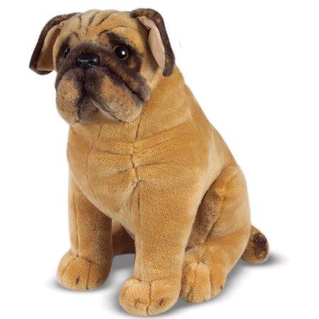 Melissa & Doug Pug Dog, Lifelike Stuffed Animal