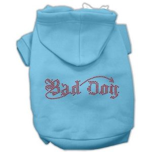 Mirage 54-07 LGBBL Bad Dog Rhinestone Hoodie Baby Blue L