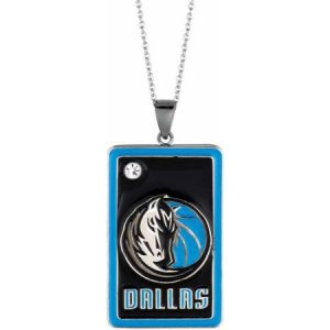 NBA Men's Fine Silver-Tone Dallas Mavericks Dog Tag Pendant, 20""