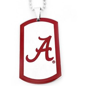 NCAA Alabama Crimson Tide Stainless Steel Dog Tag Men's Necklace