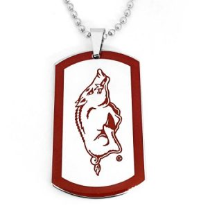 NCAA Arkansas Razorbacks Stainless Steel Dog Tag Men's Necklace