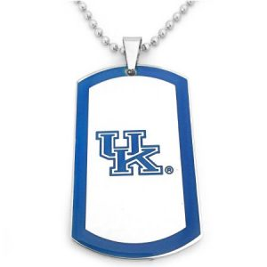 NCAA Kentucky Wildcats Stainless Steel Dog Tag Men's Necklace