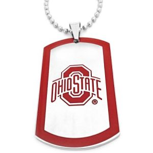 NCAA Ohio State Buckeyes Stainless Steel Dog Tag Men's Necklace