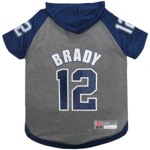 NFLPA Tom Brady Hoodie Tee Shirt for Dogs and Cats