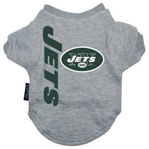 New York Jets Dog Tee Shirt - Large