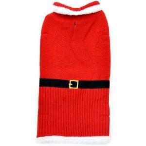 Otis & Claude Fetching Fashion Holiday Santa Sweater, Large