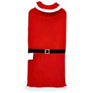Otis & Claude Fetching Fashion Holiday Santa Sweater, X-Large