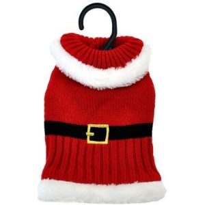 Otis & Claude Fetching Fashion Holiday Santa Sweater, X-Small
