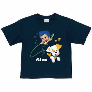 Personalized Bubble Guppies Bubble Puppy and Gil Boys' Navy T-Shirt