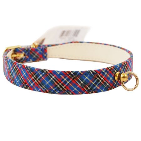 "Pet Supply Imports 431 Plaid Scotch Adjustable Fancy Dog Collar 7/8"" Width"