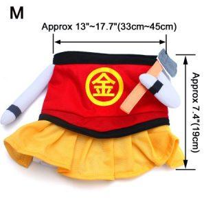 Petio Dog Pet Dress Kintoki Costume Red Yellow Size L