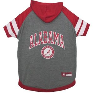 Pets First College Alabama Crimson Tide Pet Hoodie Tee Shirt, 4 Sizes Available
