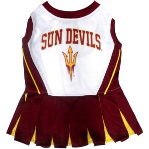 Pets First College Arizona State Sun Devils Cheerleader, 3 Sizes Pet Dress Available. Licensed Dog Outfit