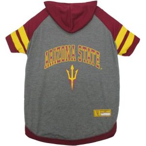 Pets First College Arizona State Sun Devils Pet Hoody Tee Shirt, 4 Sizes Available