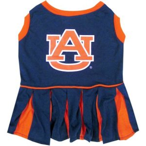 Pets First College Auburn Tigers Cheerleader, 3 Sizes Pet Dress Available. Licensed Dog Outfit