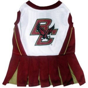 Pets First College Boston College Eagles Cheerleader, 3 Sizes Pet Dress Available. Licensed Dog Outfit