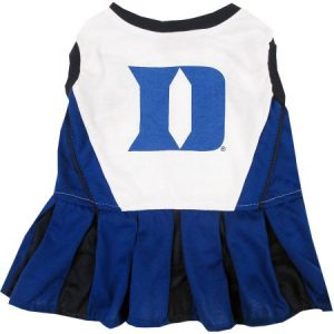 Pets First College Duke Blue Devils Cheerleader, 3 Sizes Pet Dress Available. Licensed Dog Outfit
