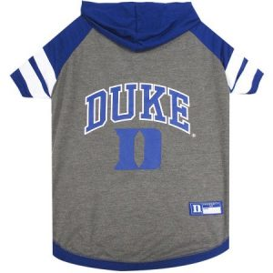 Pets First College Duke Blue Devils Pet Hoody Tee Shirt, 4 Sizes Available