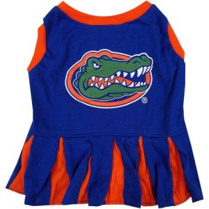 Pets First College Florida Gators Cheerleader, 3 Sizes Pet Dress Available. Licensed Dog Outfit