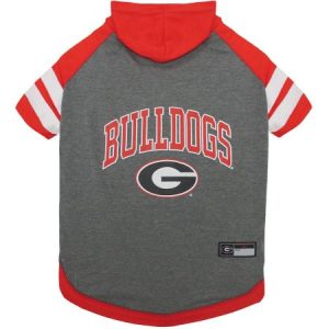 Pets First College Georgia Bulldogs Pet Hoody Tee Shirt, 4 Sizes Available