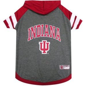 Pets First College Indiana Hoosiers Pet Hoody Tee Shirt, 4 Sizes Available