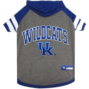 Pets First College Kentucky Wildcats Pet Hoody Tee Shirt, 4 Sizes Available
