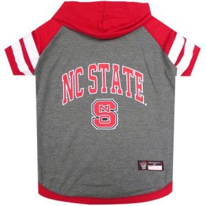 Pets First College NC State Wolfpack Pet Hoody Tee Shirt, 4 Sizes Available