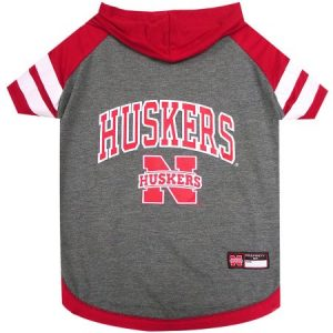 Pets First College Nebraska Huskers Pet Hoody Tee Shirt, 4 Sizes Available