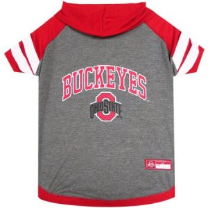 Pets First College Ohio State Buckeyes Pet Hoody Tee Shirt, 4 Sizes Available
