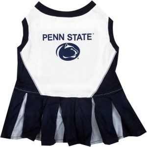 Pets First College Penn State Nittany Lions Cheerleader, 3 Sizes Pet Dress Available. Licensed Dog Outfit