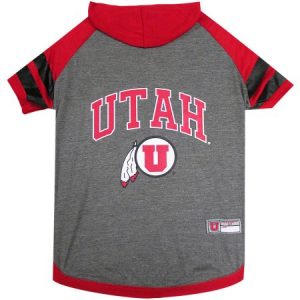 Pets First College Utah Utes Pet Hoody Tee Shirt, 4 Sizes Available