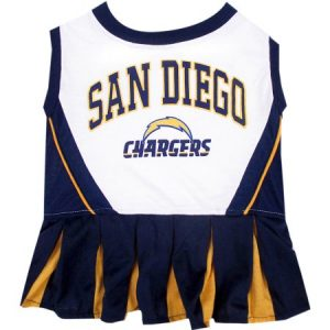 Pet's First Company San Diego Chargers Cheerleader Dog Dress