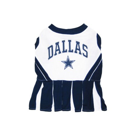Pets First DAL-40071 Dallas Cowboys Cheerleader Dog Dress Xtra Small