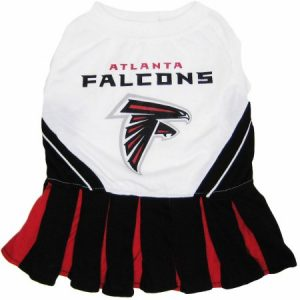 Pets First NFL Atlanta Falcons Cheerleader, 3 Sizes Pet Dress Available. Licensed Dog Outfit