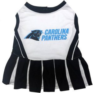Pets First NFL Carolina Panthers Cheerleader Licensed Pet Dress Dog Outfit, 3 Sizes Available