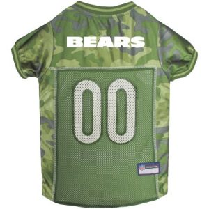 Pets First NFL Chicago Bears Camouflage Jersey For Dogs, 5 Sizes Available, Pet Shirt For Hunting, Hosting a Party, or Showing off your Sports Team