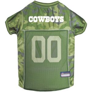 Pets First NFL Dallas Cowboys Camouflage Jersey For Dogs, 5 Sizes Available, Pet Shirt For Hunting, Hosting a Party, or Showing off your Sports Team