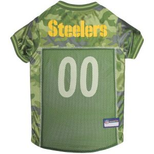 Pets First NFL Pittsburgh Steelers Camouflage Jersey For Dogs, 5 Sizes Available, Pet Shirt For Hunting, Hosting a Party, or Showing off your Sports Team
