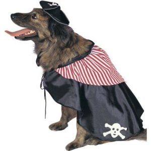 Pirate Dog Pet Costume, Size Large 18-20""