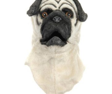 Pug Dog Costume Mouth Mover Mask