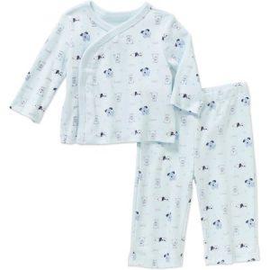 Quiltex Newborn Baby Boy Dog Kimono Top and Pant Set