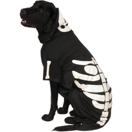 Rubie's Glow - In - The - Dark Skeleton Hoodie Pet Costume - Extra Extra Large