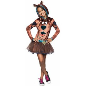 Scooby Doo Dog Cartoon Hooded Child Girls Tutu Dress Halloween Costume L