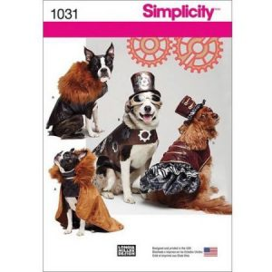 Simplicity Dog Costume Coats and Hats, S-M-L